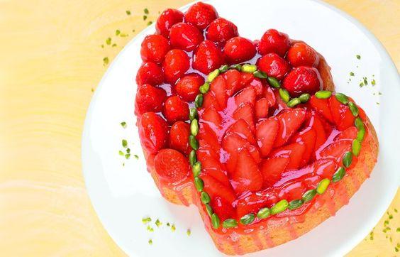 Erdbeer-Doppelherz