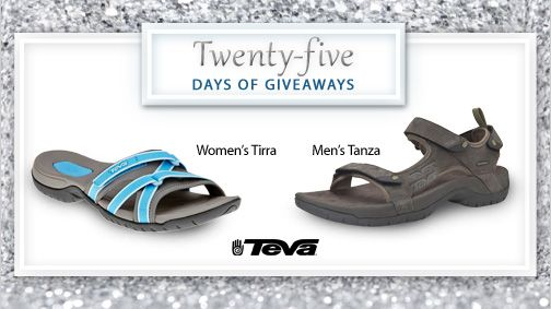 Welcome to the 2nd day of 25 Days of Giveaways!   Slip your feet into a pair of Teva's this summer – they are the perfect blend of shoe and sandal.  #25DaysofGiveaways