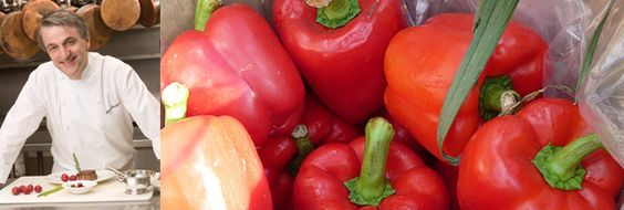 Pétoncles pochés à la ratatouille de poivrons, sauce aux poivrons rouges | equiterre.org - Pour des choix écologiques, équitables et solidaires