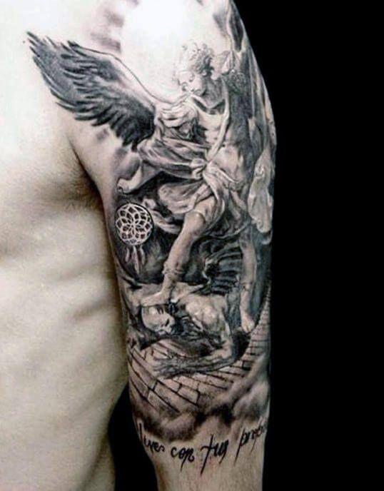 The 80 Best Half Sleeve Tattoos For Men Improb Angel Sleeve Tattoo Tattoo Sleeve Men Sleeve Tattoos