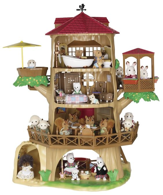 Sylvanian families old oak hollow tree house for Arbre maison jouet