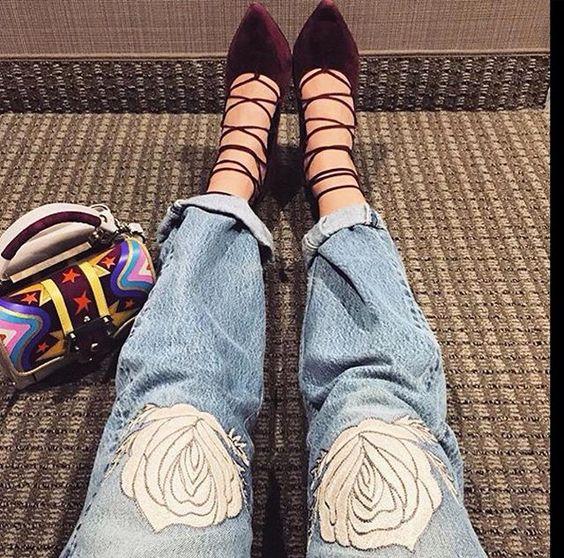 Sapatos com amarração está com tudo!