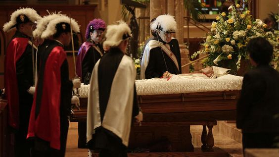 Overnight mourners say goodbye to Cardinal George: 'He was a good shepherd'  A steady stream of mourners visited a hushed Holy Name Cathedral through the night to pay their last respects to Cardinal Francis George.  http://www.chicagotribune.com/news/local/breaking/chi-cardinal-george-overnight-funeral-rites-20150423-story.html