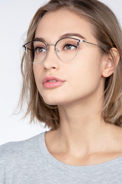 Jive Round Black Silver Frame Glasses For Women Eyebuydirect Womens Glasses Frames Fashion Eye Glasses Glasses For Face Shape