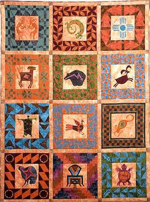 Southwest style southwestern quilts and southwest quilts for Southwest decoratives