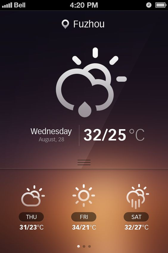 Weather http://dribbble.com/shots/555700-Weather