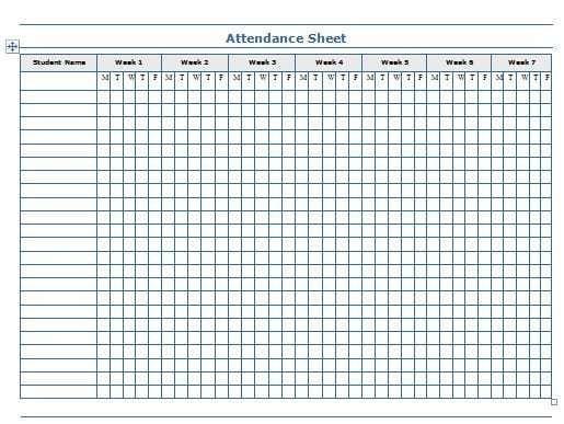 Attendance Sheet Template 303 Attendance Sheet Template