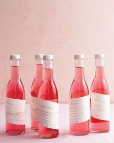 Wedding Favors....Pre-mixed cocktails to go ;)  Makes 1 1/2 liters        * 1 pints fresh raspberries      * 1 3/4 cups sugar      * 2 bottles (750 ml size) medium-quality vodka    Directions       1. Wash raspberries and pat dry; place in a 2-quart nonreactive container with a tight-fitting lid. Add sugar, and toss to combine. Pour in vodka, and close container. Store in a cool, dark place until ready to use (1 to 3 months). Shake every day until the sugar is dissolved. Using a sieve set…