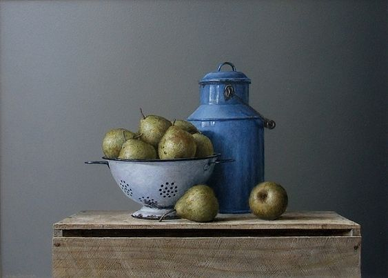Pears in Colander