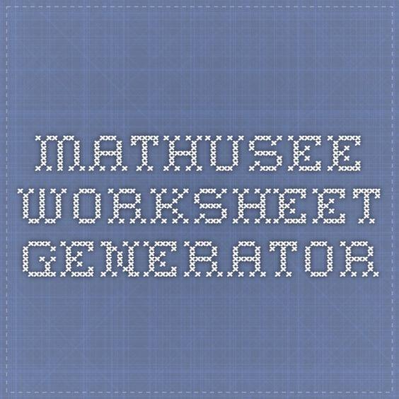 MathUSee Worksheet Generator print both button doesnt work – Math U See Worksheet Generator