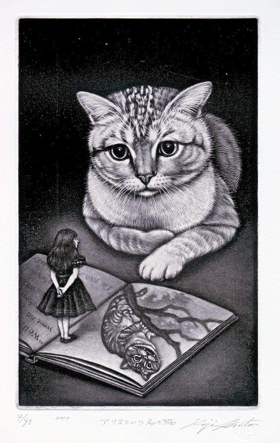 "Koji Ikuta (Japan, b. 1953) - ""Alice"", 2012 - Mezzotint:"