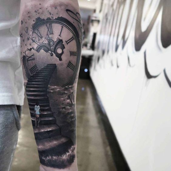 stairway to the eternity tattoo 3d tattoo pinterest stairways stairs and eternity tattoo. Black Bedroom Furniture Sets. Home Design Ideas