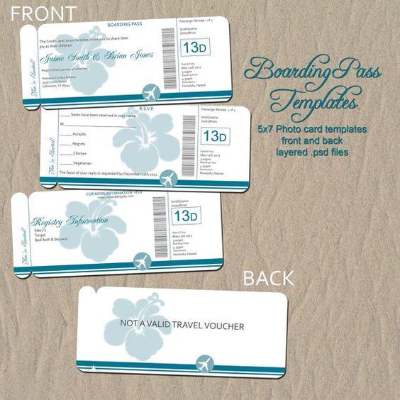Boarding Pass Destination Wedding Invitation by rememberwhendesign, $10.00