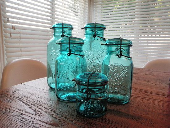 Vintage Blue ball  Jars!