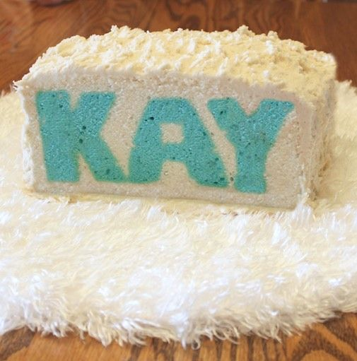 bake a cake with words inside!