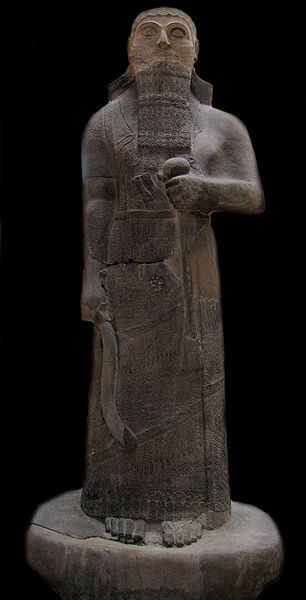 Basalt statue of King Shalmaneser II, 858-824 BCE (Neo-Assyrian Period). Found in Assur (Qalat Sharqat). Today it is displayed in the Istanbul Archaeological Museums, in the Museum of the Ancient Orient section. This text is from a display at this statue, a translation of script on the actual statue:  The king gives a brief account of his genealogical titles and characteristics as follows::