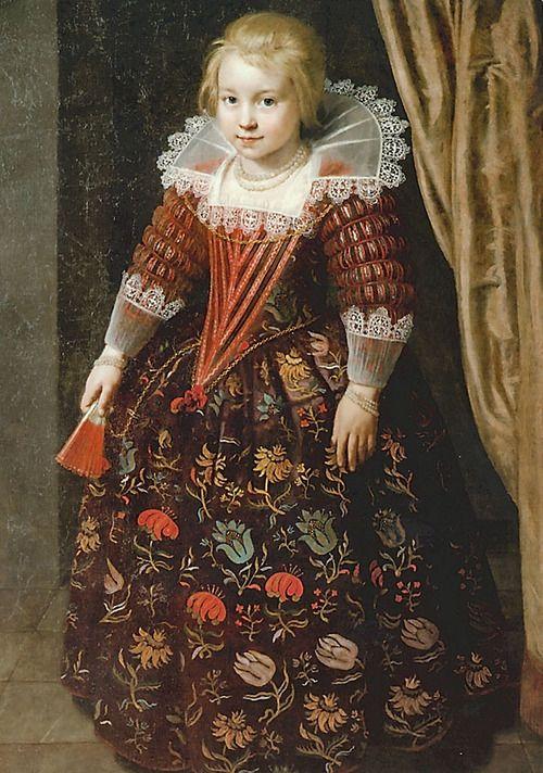 Paulus Moreelse,  Portrait of a Girl, 1625 -  Weser Renaissance Museum, Lee doing presentation