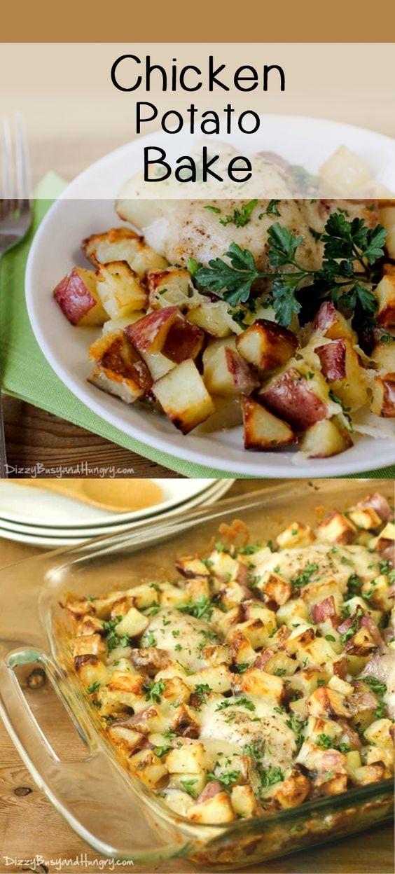 Chicken Potato Bake Dizzy Busy And Hungry Recipes Recipe Easy Chicken Dinner Recipes Chicken Potato Bake Recipes