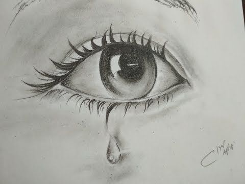 How To Draw Eyes With Tears Easy To Learn Step By Step Drawing Nalani Journal Eye Drawing Simple Eye Drawing Girl Eyes Drawing
