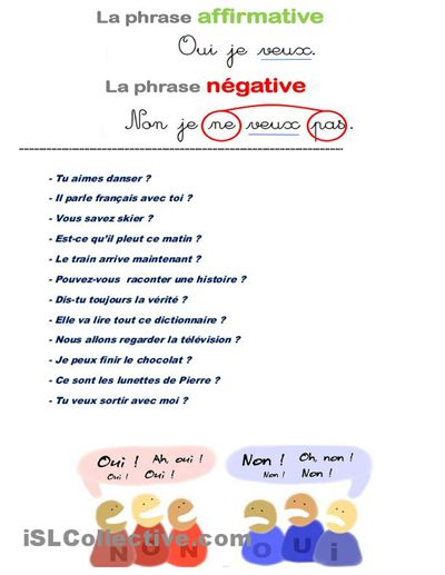 French worksheets for grade 6 free