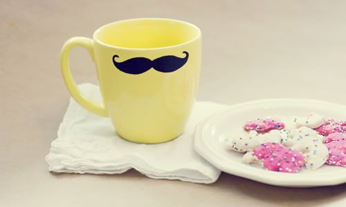 DIY mustache mug.:
