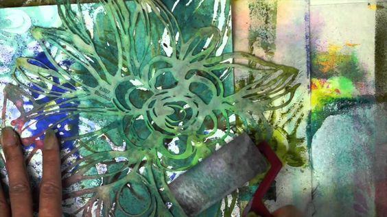 traci bautista stencils mixed media techniques