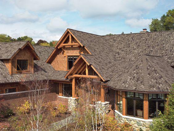 Best Mission Brown Gaf Designer Roof Shingles Home 400 x 300