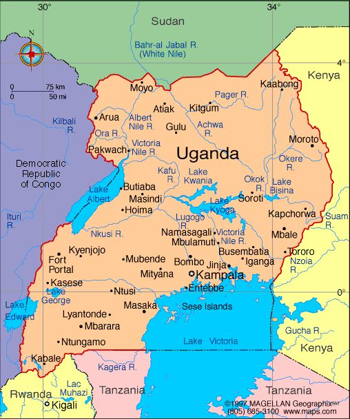 Uganda Atlas Maps And Online Resources Infopleasecom Africa - Map of uganda