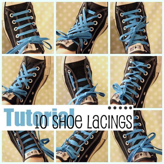 Viele Arten seine Schuhe individuell zu schnüren