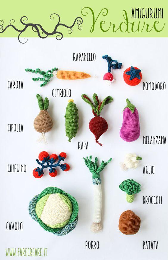 Crochet Amigurumi Vegetables : Vegetables, Crochet and Tutorials on Pinterest