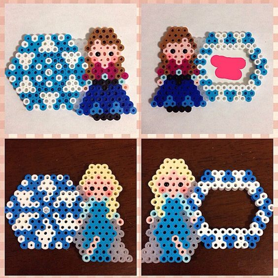 Disney Frozen name tag perler beads by ringo_0122