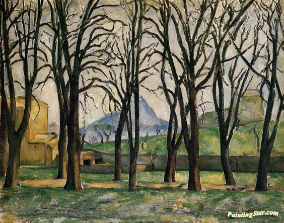 Chestnut Trees at the Jas de Bouffan Artwork by Paul Cezanne Hand-painted and Art Prints on canvas for sale,you can custom the size and frame