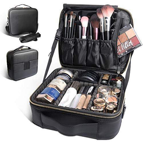 gold roll up makeup bag organizer