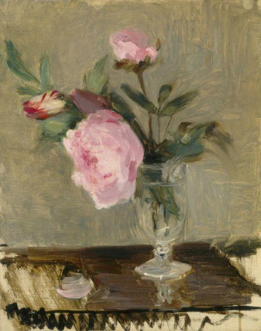 Berthe Morisot (1841-1895): Peonías, 1869.: