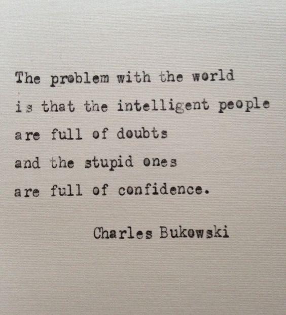 Charles Bukowski quote hand typed on antique typewriter