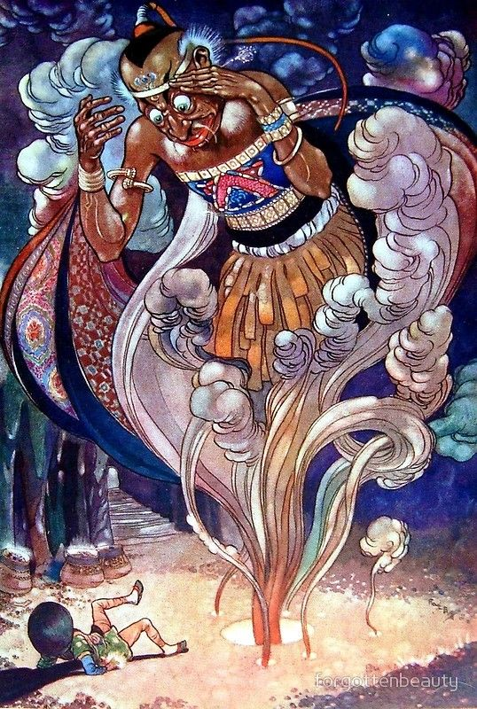 Aladdin And His Lamp Arabian Nights Rene Bull Arabian Nights Night Illustration Aladdin