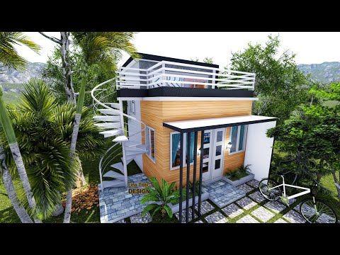 Loft House Design With Roof Deck 4meters X 5meters Youtube Loft House Design Bungalow House Design Loft House
