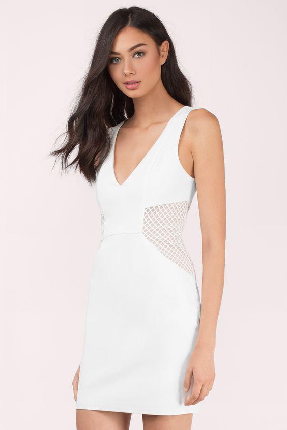Jaclyn Mesh Bodycon  Dress at Tobi.com #shoptobi