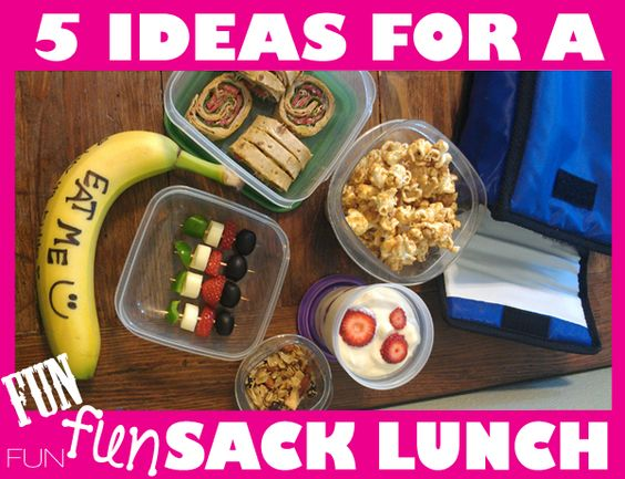 5 Ideas for FUN sack lunches.  We're back to school and getting creative with sack lunches http://healthymomskitchen.com