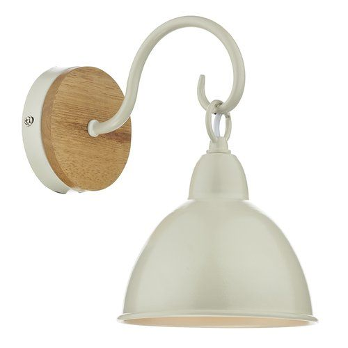 Brambly Cottage Reece 1 Light Armed Sconce Cream Wall Lights Wall Lights Rustic Wall Lighting