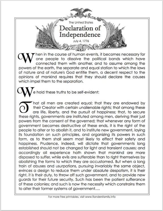 The  Best Declaration Of Independence Preamble Ideas On