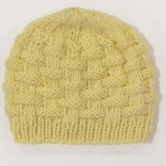 Easy Basket Weave Knit Pattern : Basketweave baby hat Knitting Fun Pinterest Baby ...