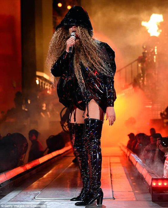 Take your style thigh-high like Beyonce in Balmain boots #DailyMail Click to buy now