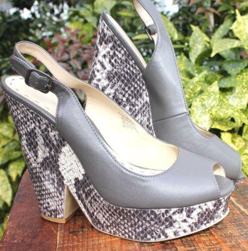 Nine-West-Gray-Snakeskin-Vegan-Leather-Platform-Heels-Trippy-9-M