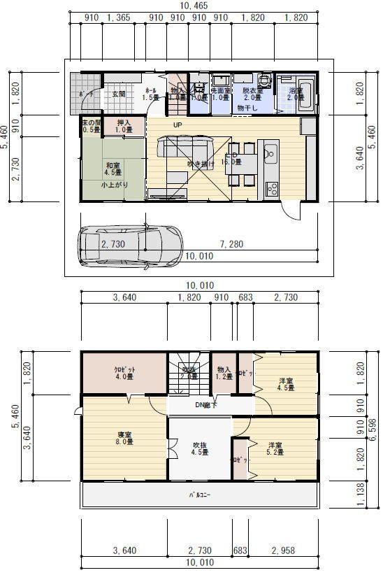 30坪4ldk吹き抜けのある家の間取り 理想の間取り 間取り 30坪 28
