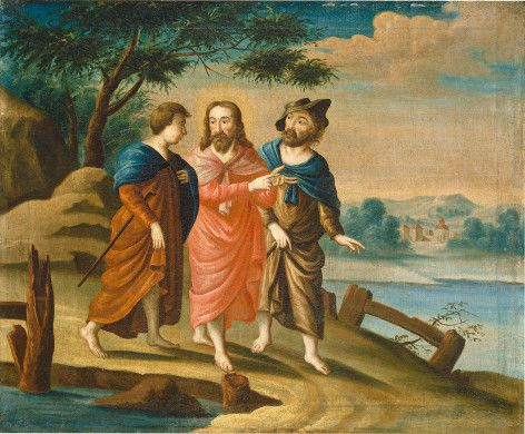 American 18th Century (artist)  Christ on the Road to Emmaus, c. 1725/1730