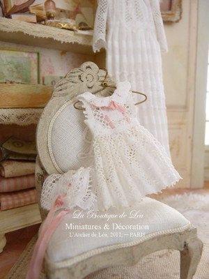 Romantic white lace dress