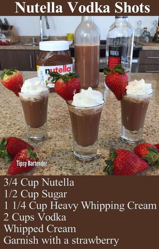 Vodka nutella and alcohol recipes on pinterest for Fun drinks to make with vodka