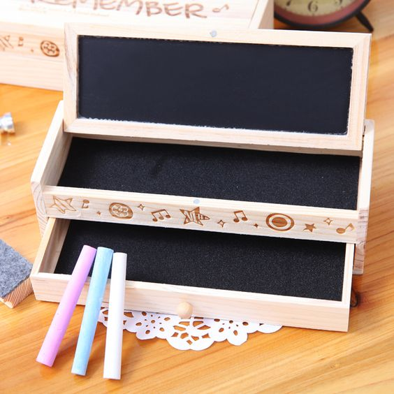 free shipping wooden pencil case Wool pencil box stationery box large capacity female brief wooden pencil-inPencil Cases from Office & School Supplies on Aliexpress.com | Alibaba Group