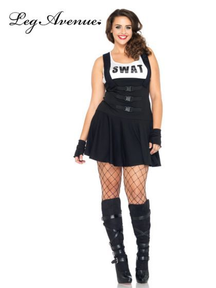 Sexy SWAT Police Officer Plus Size Costume   Sexy Police Costumes